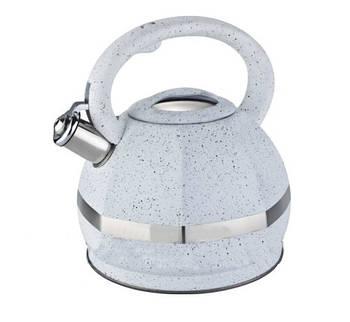 Чайник Edenberg з нержавіючої сталі зі свистком 3.0 л Білий (EB-2475)