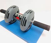 Тренажер колесо подвійної дії Power Stretch Roller / Гімнастичний ролик з поверненням