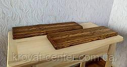 Настінна полиця для книг і декору з невидимим кріпленням брашірованная під старовину 690х200х35 мм., фото 3