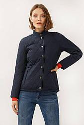 Жіноча коротка куртка Finn Flare A19-11012-101 без капюшона темно-синя
