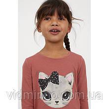 Лонгслив Кошка H&M для девочки