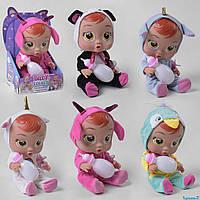 Пупс Cry Babies 9349 (36/2) издает звуки, с пустышкой и бутылочкой, 6 видов, в коробке