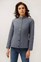 Короткая женская куртка Finn Flare A19-11012-105 темно-голубая