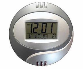 Годинники електронні Kenko КК 6870 настінні з термометром Сірі КОД: 300088