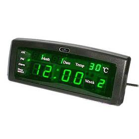 Годинники настільні електронні Caixing CX-868 Чорні КОД: 101269