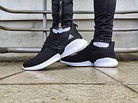 Кроссовки мужские Adidas AlphaBounce Instinct (чорные). Обувь для спорта. Повседневная обувь.
