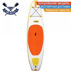 Надувная САП доска Ладья Light SUP-Board 305x76x15 см + весло + лиш + плавник + насос + рюкзак, Украина