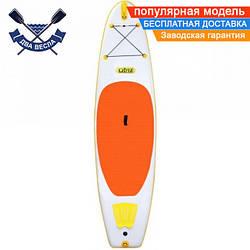 Надувная САП доска Ладья Medium SUP-Board 320x82x15 см + весло + лиш + плавник + насос + рюкзак, Украина