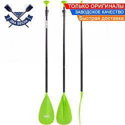 Трехсекционное весло для SUP доски 175-215 см Aluminium Paddle 3 pcs Lime весло для САПборда, 0,98 кг