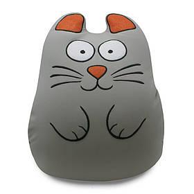М'яка іграшка муфта-антистрес Ручної кіт Сірий Expetro КОД: A214