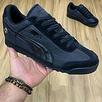 Кроссовки Puma Roma BMW черные. Размер 44