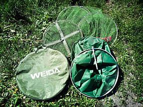 Садок прорезиненный Weida с колышком (Диаметр  33 см* 2 метр  ) Чехол в подарок .Садок рыбаку