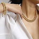 Толстая цепочка на шею ожерелье колье, фото 4