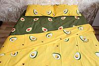 Комплект постельного белья Евро размера Ranforce авокадо