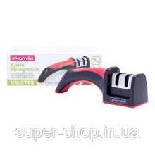 Точилка для заточування ножів з нержавіючої сталі Kamille 5703 антискользящяя ручка