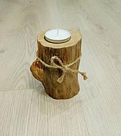 Подсвечник деревянный на одну чайную свечу