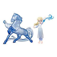 Игровой набор Frozen 2 Холодное Сердце Эльза и Нокк 10 см. Оригинал Hasbro E6857/E5504