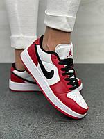 Женские кроссовки Nike Air Jordan 1 Low Red Найк аир джордан 1 низкие красные