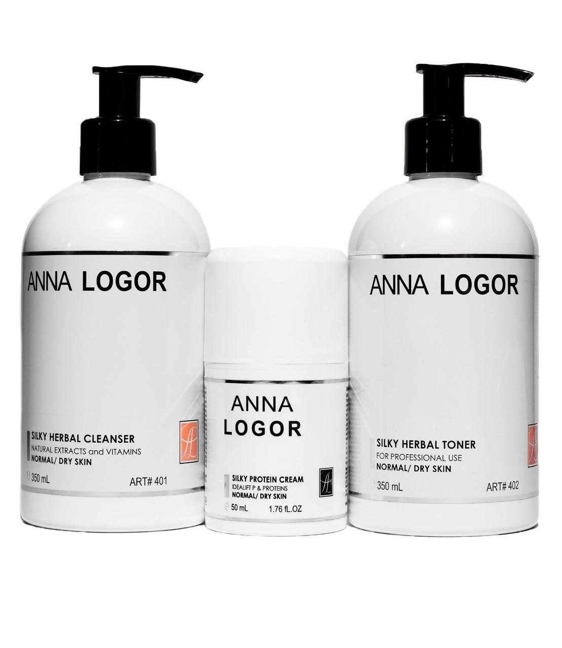 Набор косметики Anna LOGOR Silky Protein Kit Базовая серия для сухой кожи лица
