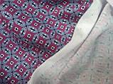 Трикотаж Польща геометричний візерунок, фото 2