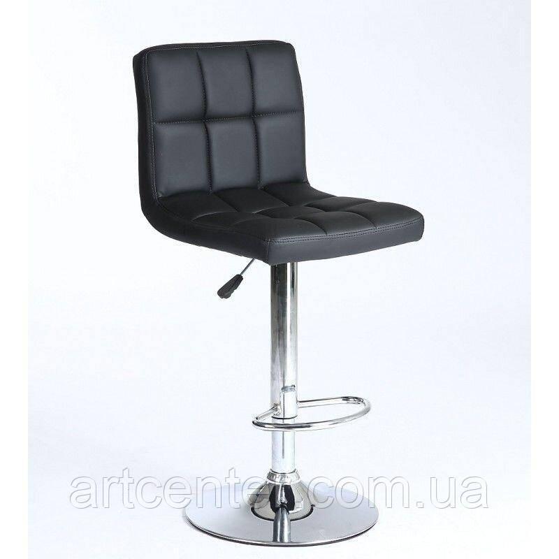 Барное кресло Sity, кресло для визажиста с регулировкой по высоте, хромированная основа, кожзам