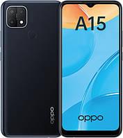 Смартфон со сканером отпечатка пальца и тремя камерами на 2 сим карты OPPO A15 2/32Gb Dynamic Black