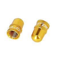 Колпачок на ниппель для камеры велосипеда XLC, DV/SV, золотой, универсальный, алюминиевый