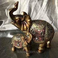 Статуетка Слони грошові, в наборі 8 шт. висота 4 див.