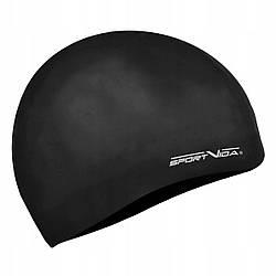 Шапочка для плавания безразмерная SportVida SV-DN0018 Black 100% силикон черного цвета