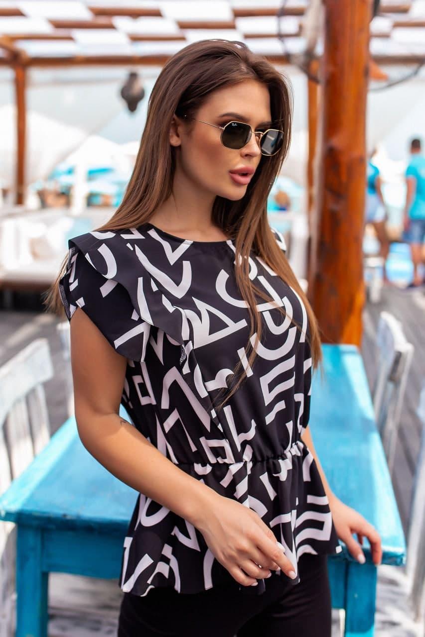 Жіноча блузка універсальна з візерунками (42-56)