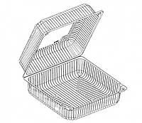 Упаковка для пирожных прозрачная 117*117*50 (2210)