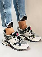 Жіночі кросівки з натуральної шкіри плюс текстиль. Розмір 36.38.39.40, фото 3