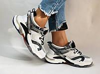 Жіночі кросівки з натуральної шкіри плюс текстиль. Розмір 36.38.39.40, фото 4