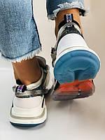 Жіночі кросівки з натуральної шкіри плюс текстиль. Розмір 36.38.39.40, фото 10
