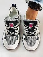 Жіночі кросівки з натуральної шкіри плюс текстиль. Розмір 36.38.39.40, фото 8