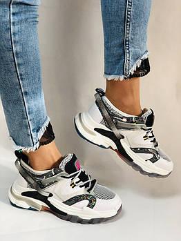Женские кроссовки из натуральной кожи плюс текстиль. Размер 36.38.39.40