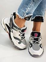 Жіночі кросівки з натуральної шкіри плюс текстиль. Розмір 36.38.39.40, фото 9