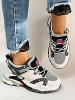 Женские кроссовки из натуральной кожи плюс текстиль. Размер 36.38.39.40, фото 2