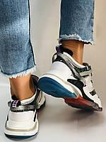 Жіночі кросівки з натуральної шкіри плюс текстиль. Розмір 36.38.39.40, фото 7