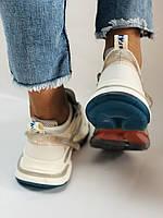 Женские кроссовки из натуральной кожи плюс текстиль. Размер 36.37.38.39.40, фото 8
