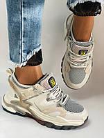 Женские кроссовки из натуральной кожи плюс текстиль. Размер 36.37.38.39.40, фото 10
