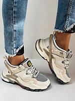 Женские кроссовки из натуральной кожи плюс текстиль. Размер 36.37.38.39.40, фото 6