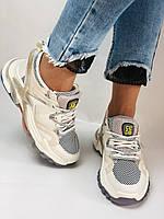 Женские кроссовки из натуральной кожи плюс текстиль. Размер 36.37.38.39.40, фото 5