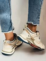 Женские кроссовки из натуральной кожи плюс текстиль. Размер 36.37.38.39.40, фото 9