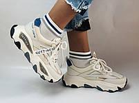 Женские кроссовки из натуральной кожи плюс текстиль. Размер 36.37.38.39.40, фото 2