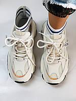 Женские кроссовки из натуральной кожи плюс текстиль. Размер 36.37.38.39.40, фото 3