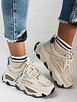 Женские кроссовки из натуральной кожи плюс текстиль. Размер 36.37.38.39.40, фото 7