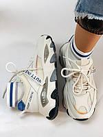 Женские кроссовки из натуральной кожи плюс текстиль. Размер 36.37.38.39.40, фото 4