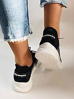 Lonza. Стильные женские кеды-кроссовки черный.Вязанный текстиль с сеткой. Размер 36.37.38.39.40, фото 2