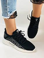 Lonza. Стильные женские кеды-кроссовки черный.Вязанный текстиль с сеткой. Размер 36.37.38.39.40, фото 10
